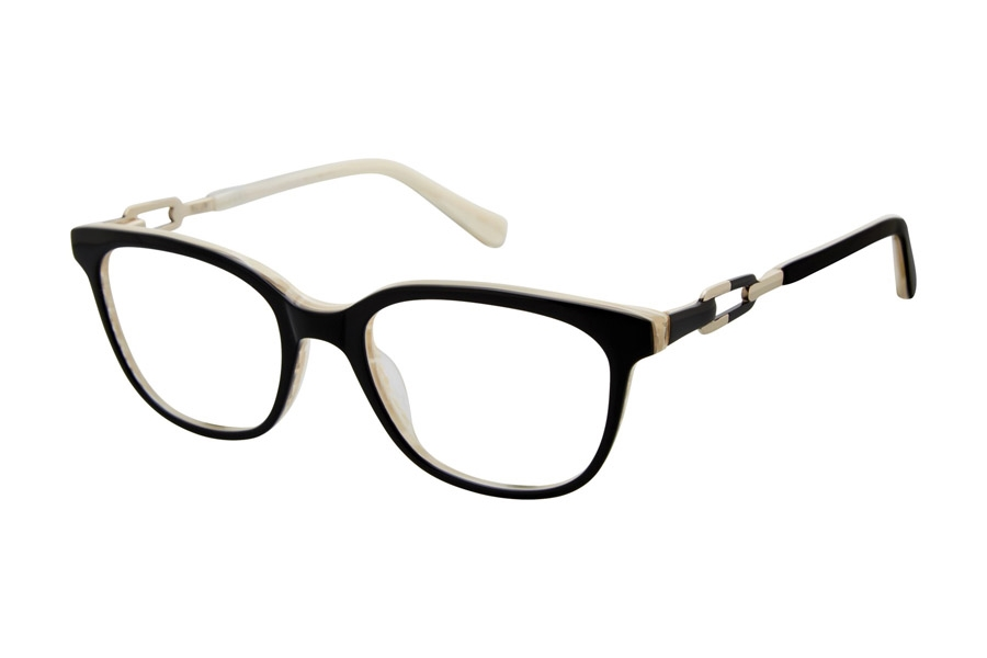 Tura by Lara Spencer LS101 Eyeglasses in BLK Black