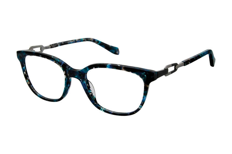 Tura by Lara Spencer LS101 Eyeglasses in BLU Blue Tortoise