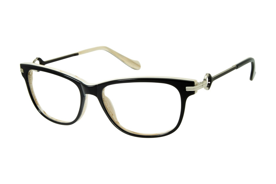 Tura by Lara Spencer LS111 Eyeglasses in BLK Black