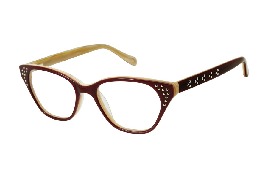 Tura by Lara Spencer LS112 Eyeglasses in BUR Burgundy