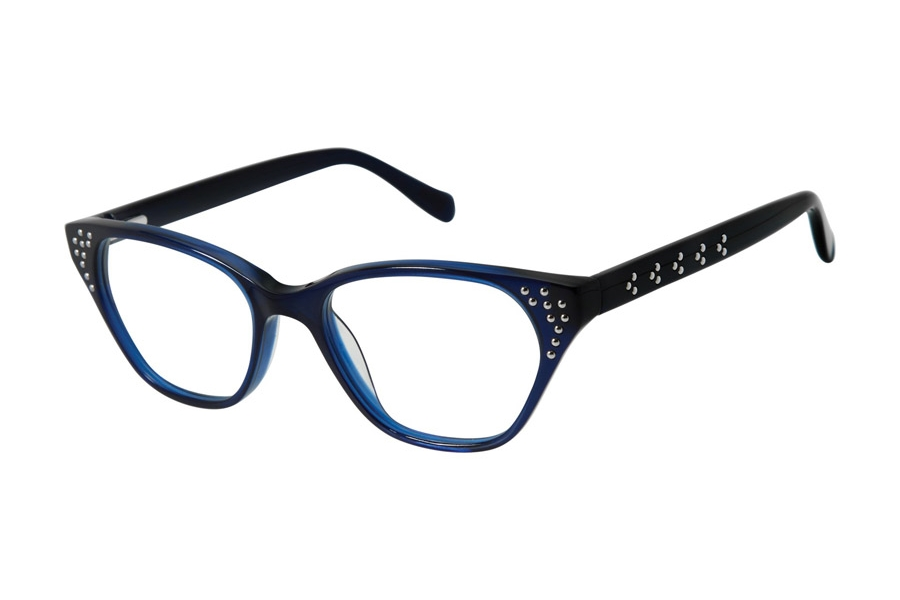 Tura by Lara Spencer LS112 Eyeglasses in NAV Navy