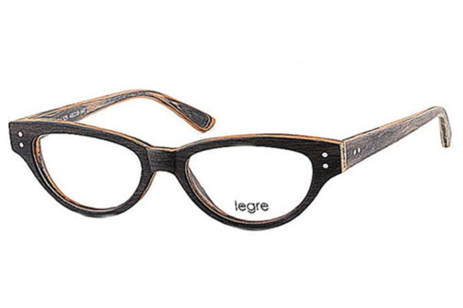 Legre LE156 Eyeglasses in 525 Grey Mix Yellow Wood