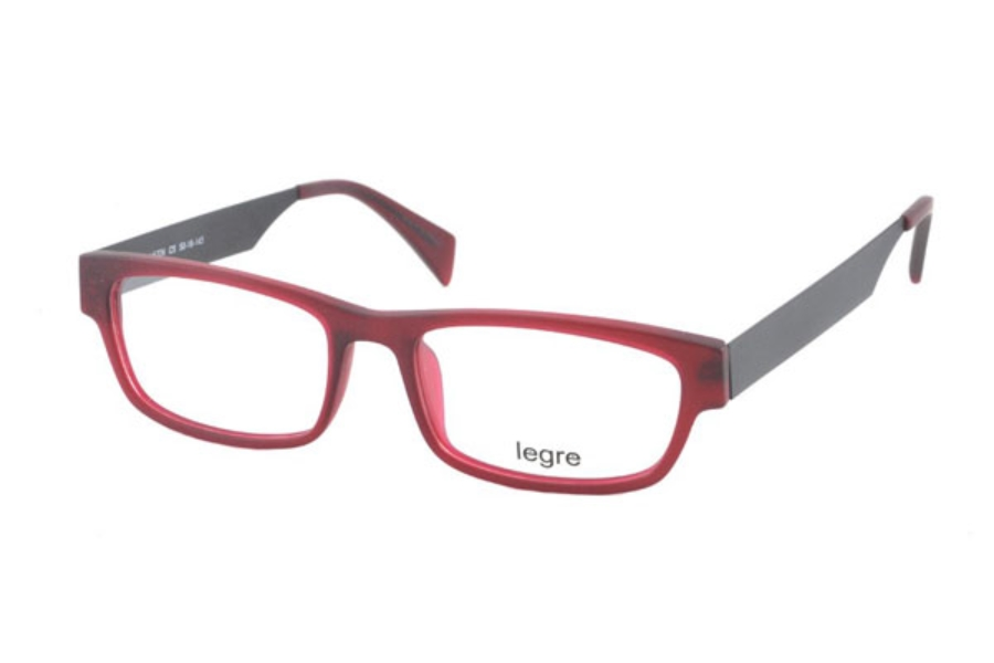 Legre LE224 Eyeglasses in C05 Matte Burgundy/Black