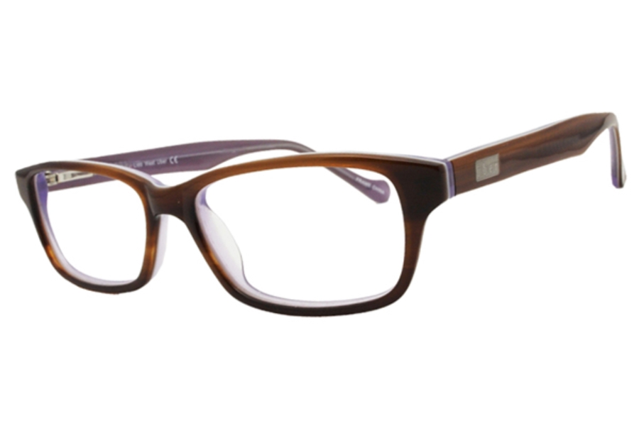 Uber Plug Eyeglasses in Brown/Purple