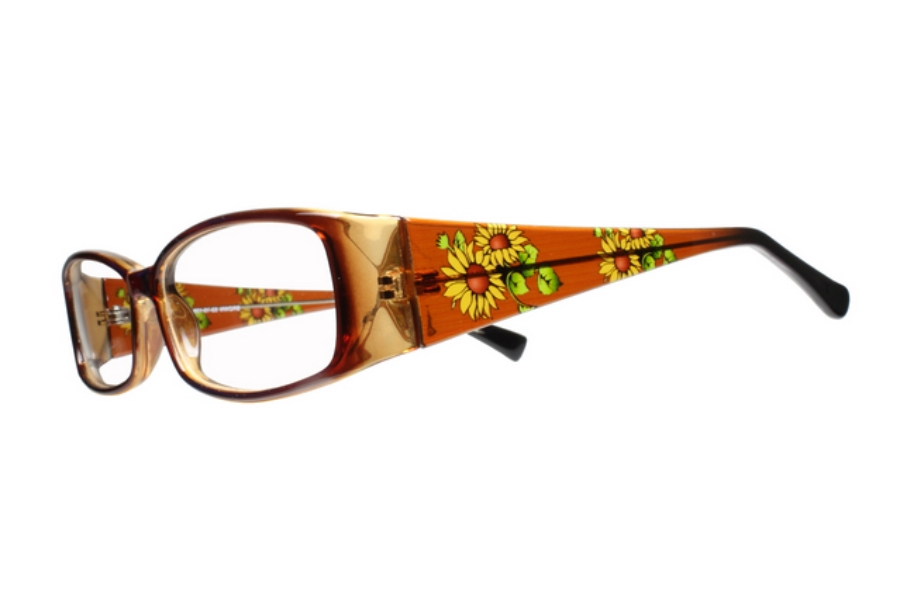 Limited Editions Anika Eyeglasses in Brown