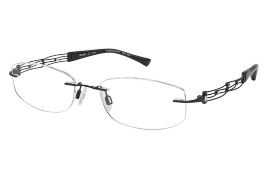 Line Art by Charmant XL 2012 Eyeglasses in BK Black