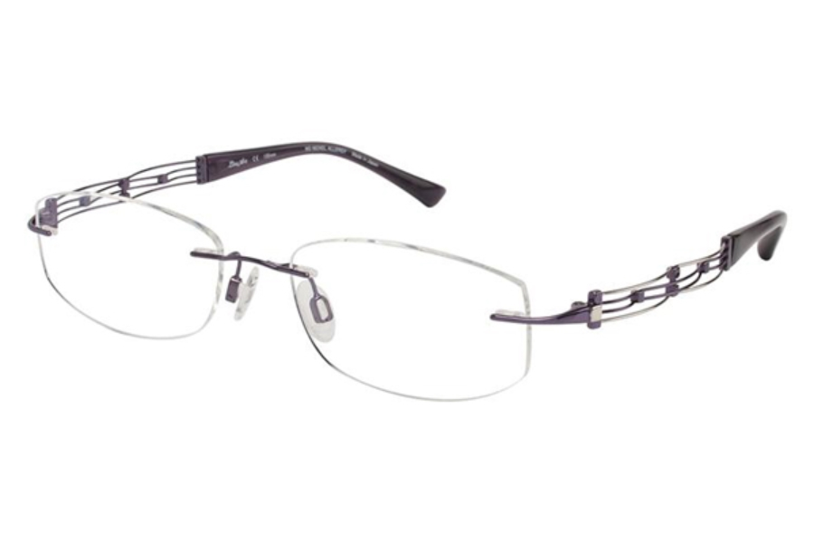 Line Art by Charmant XL 2012 Eyeglasses in PU Purple