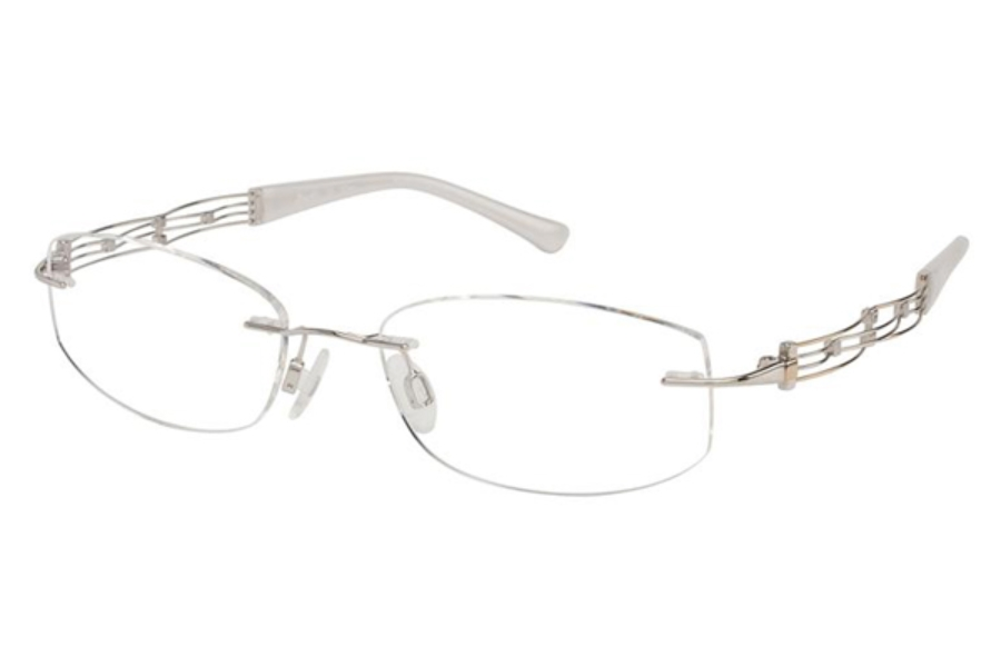 Line Art by Charmant XL 2012 Eyeglasses in WG White Gold