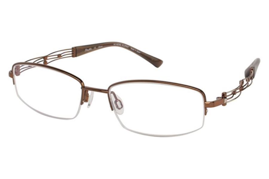 e8f5f2642 Line Art by Charmant XL 2015 Eyeglasses in BR Brown ...