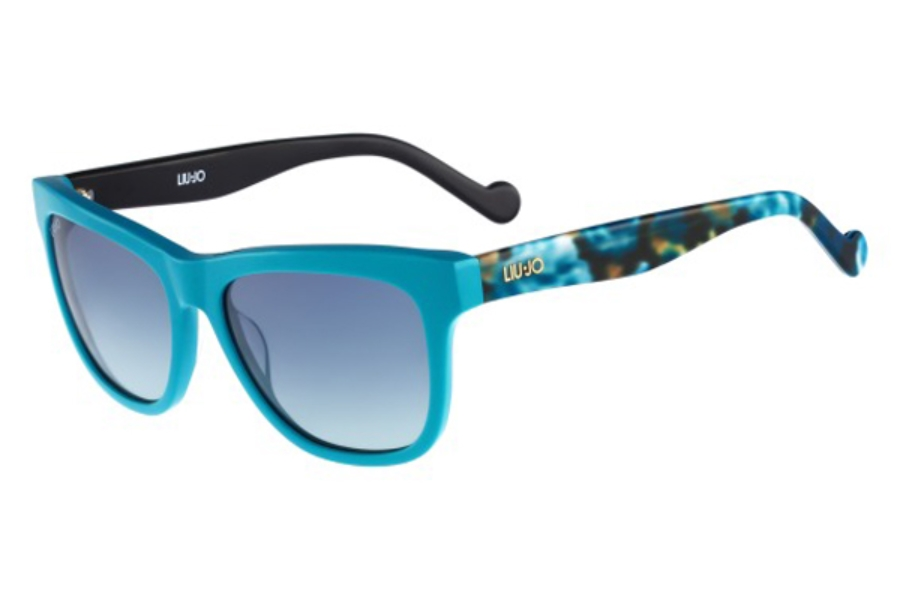 Liu Jo LJ628S Sunglasses in 440 Turquoise With Flowers