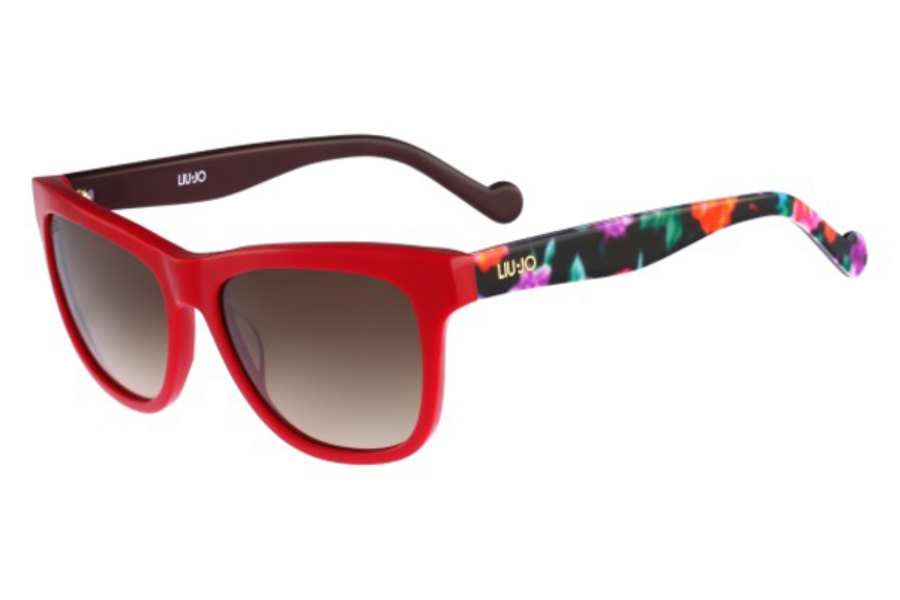 Liu Jo LJ628S Sunglasses in 615 Red With Flowers
