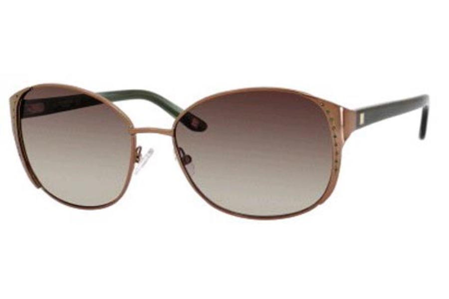 Liz Claiborne L.CLAIBORNE 557/S Sunglasses in 03YG Satin Light Gold (Y6 brown gradient lens)