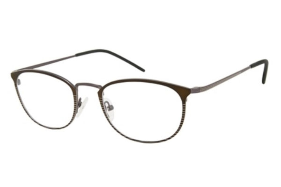 London Fog Adam Eyeglasses in Black