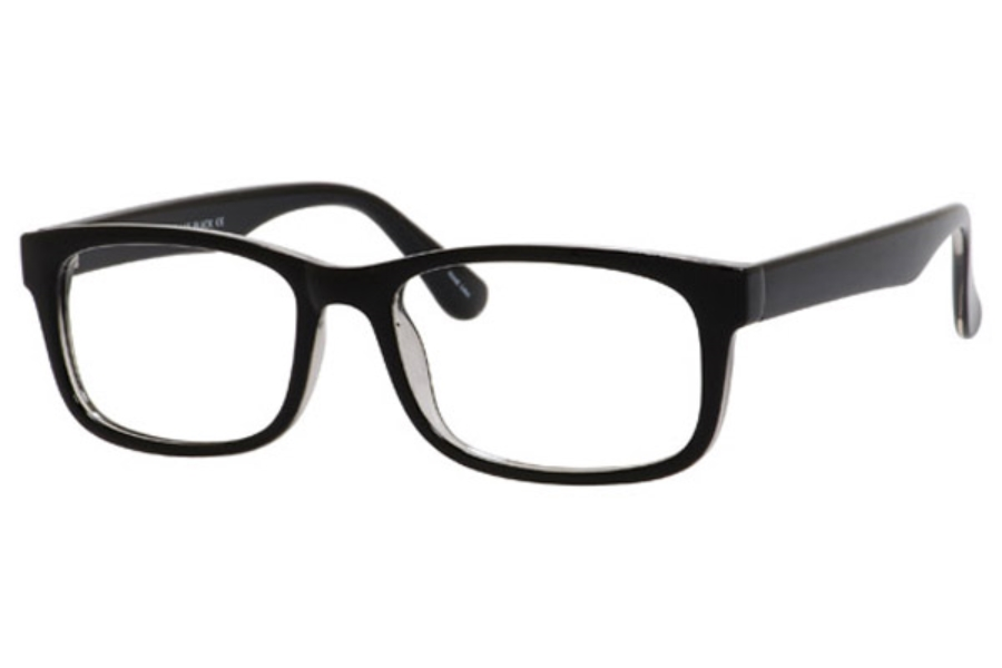 Looking Glass 1052 Eyeglasses in Black Crystal