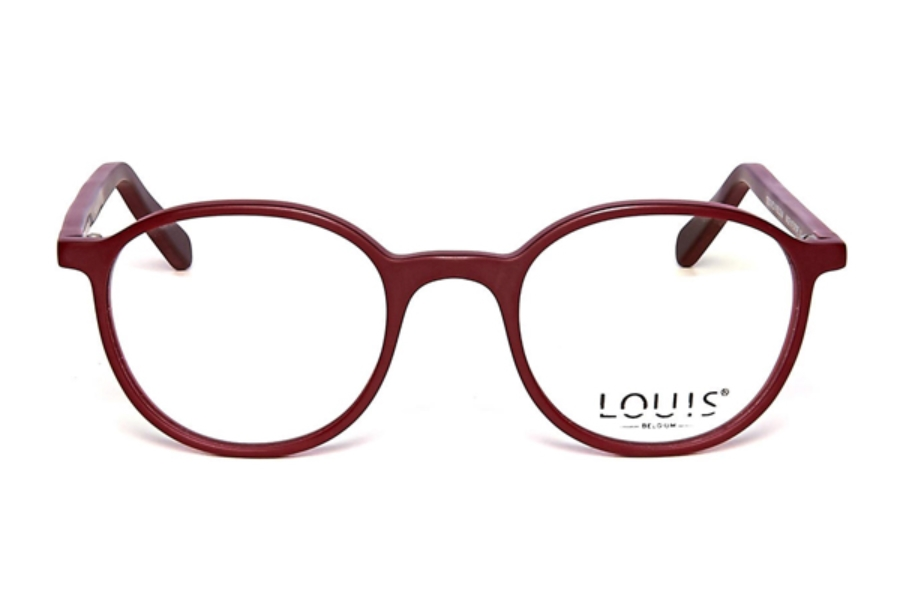 Louis Belgium Tasso Eyeglasses in 9013 Cherry Cherry