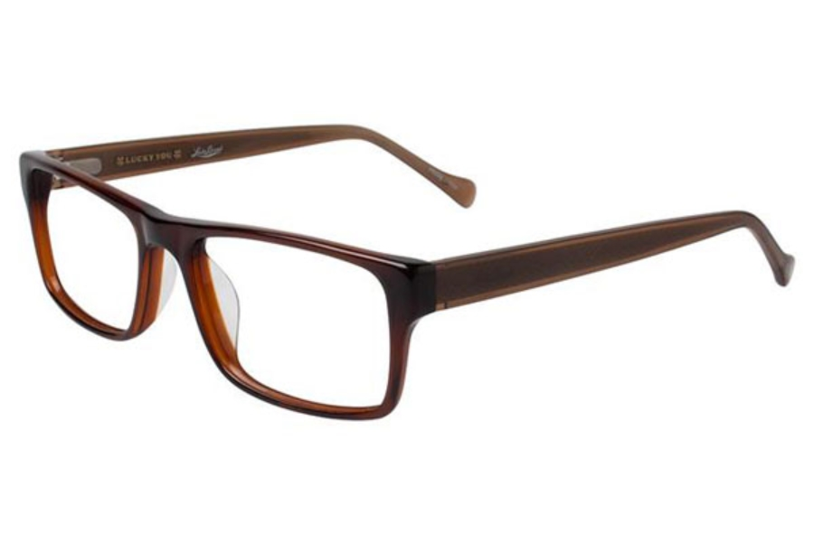 Lucky Brand Dive Eyeglasses in Brown