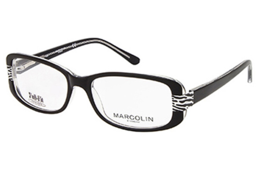 Marcolin MA7309 GWEN Eyeglasses in 003 Black/Crystal