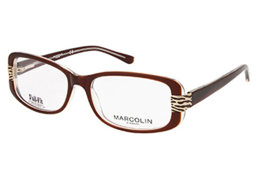 Marcolin MA7309 GWEN Eyeglasses in 050 Dark Brown/Other