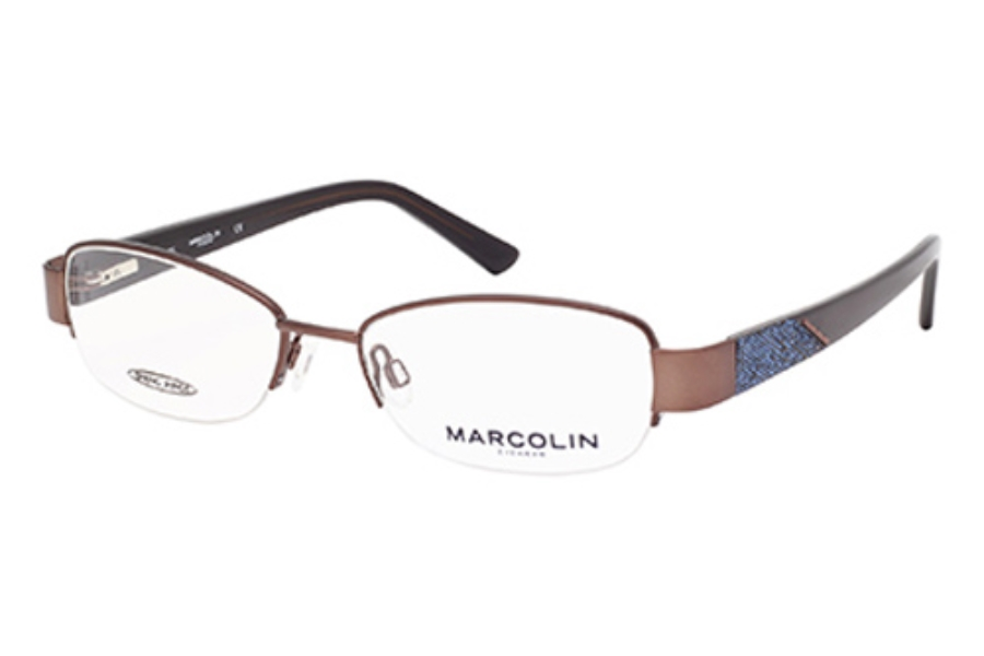 Marcolin MA7330 Eyeglasses in 045 Shiny Light Brown