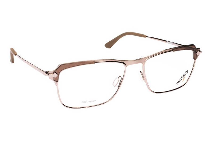 Mad in Italy Teseo Eyeglasses in M04 Matte Silver/Brown