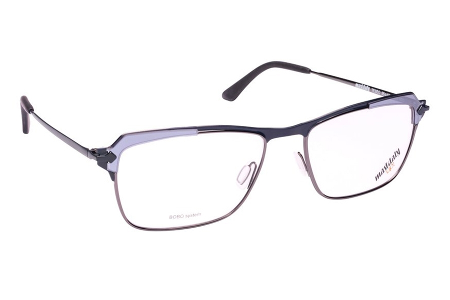 Mad in Italy Teseo Eyeglasses in N01 Black/Mirror