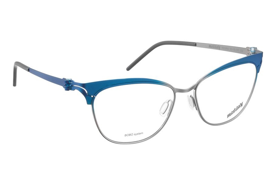 Mad in Italy Regina Eyeglasses in V02 Blue/Silver