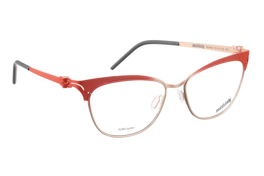 Mad in Italy Regina Eyeglasses in Z03 Red/Gold