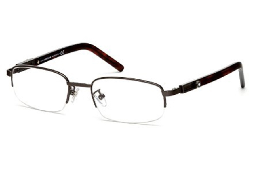 Mont Blanc MB0399 Eyeglasses in 008 Shiny Gumetal