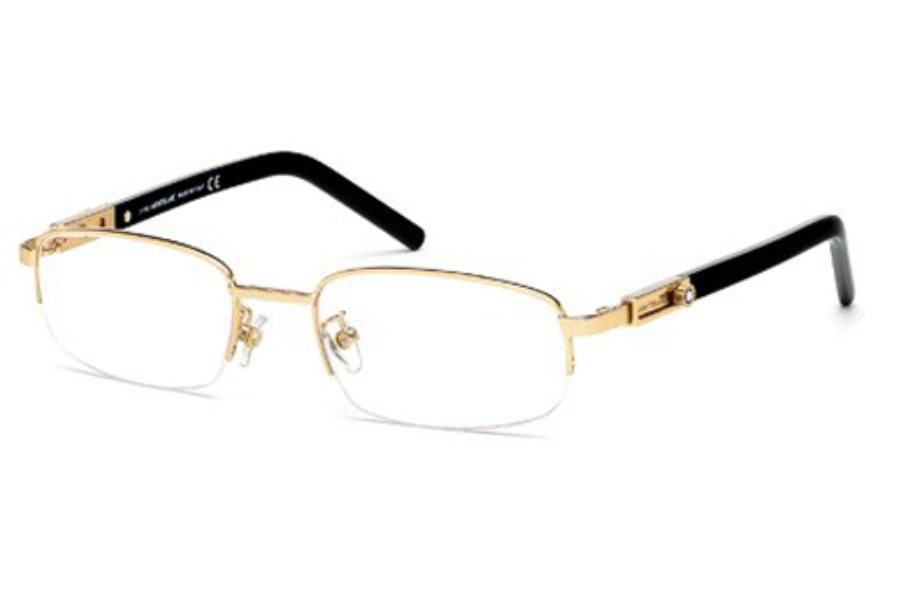 Mont Blanc MB0399 Eyeglasses in 028 Shiny Rose Gold