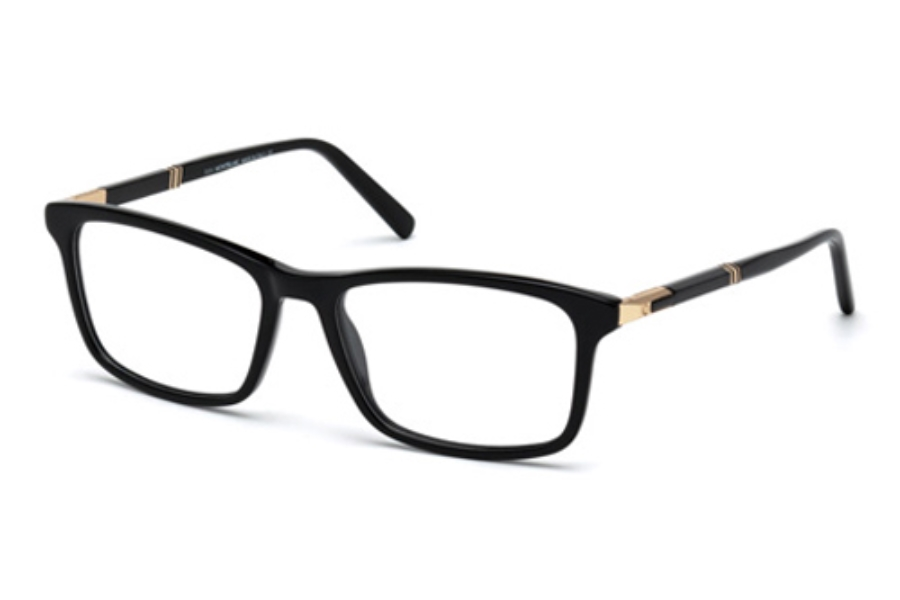 Mont Blanc MB0540 Eyeglasses in 001 Shiny Black