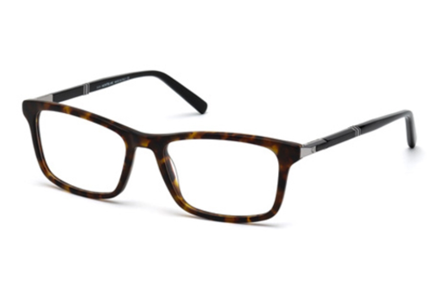 Mont Blanc MB0540 Eyeglasses in 052 Dark Havana