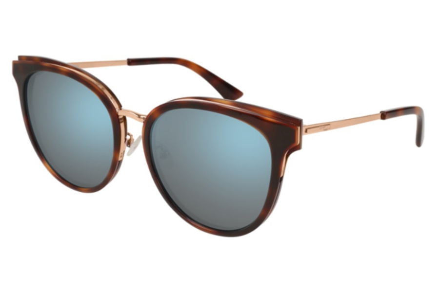 MCQ MQ0104SK Sunglasses in 003 Havana / Light Blue