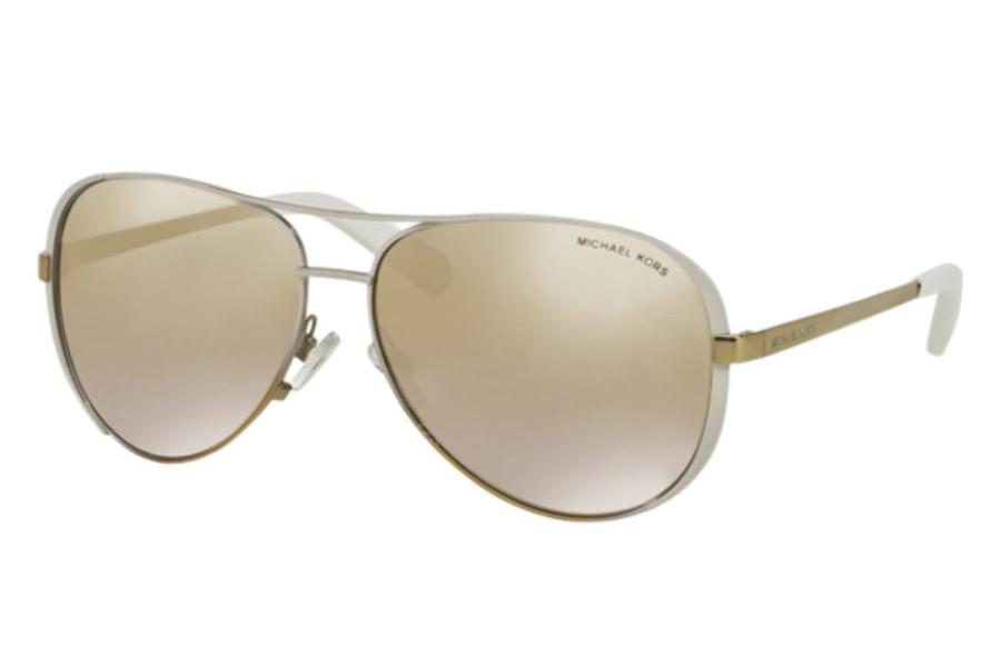 861b630d529 ... Michael Kors MK5004 CHELSEA Sunglasses in 10166E White Gold Fade Gold  Gradient Mirror ...