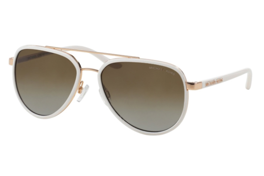 b0989acd855c Michael Kors MK5006 PLAYA NORTE Sunglasses in 1038T5 White Rose Gold    Brown Gradient Polarized ...