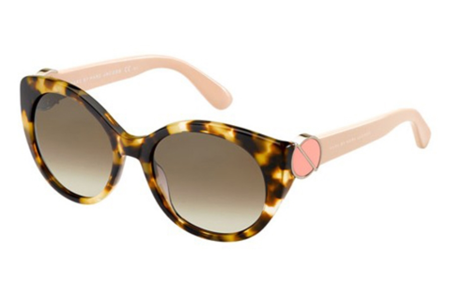 Marc By Marc Jacobs MMJ 396/S Sunglasses in 05YG Havana (J6 brown gradient lens)