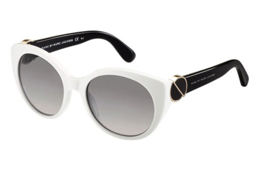 Marc By Marc Jacobs MMJ 396/S Sunglasses in 0NUE White (EU gray gradient lens)