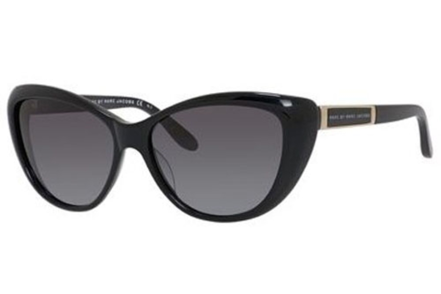 346947a10976 Marc By Marc Jacobs MMJ 366 S Sunglasses in 029A SHINY BLACK (HD GRAY ...