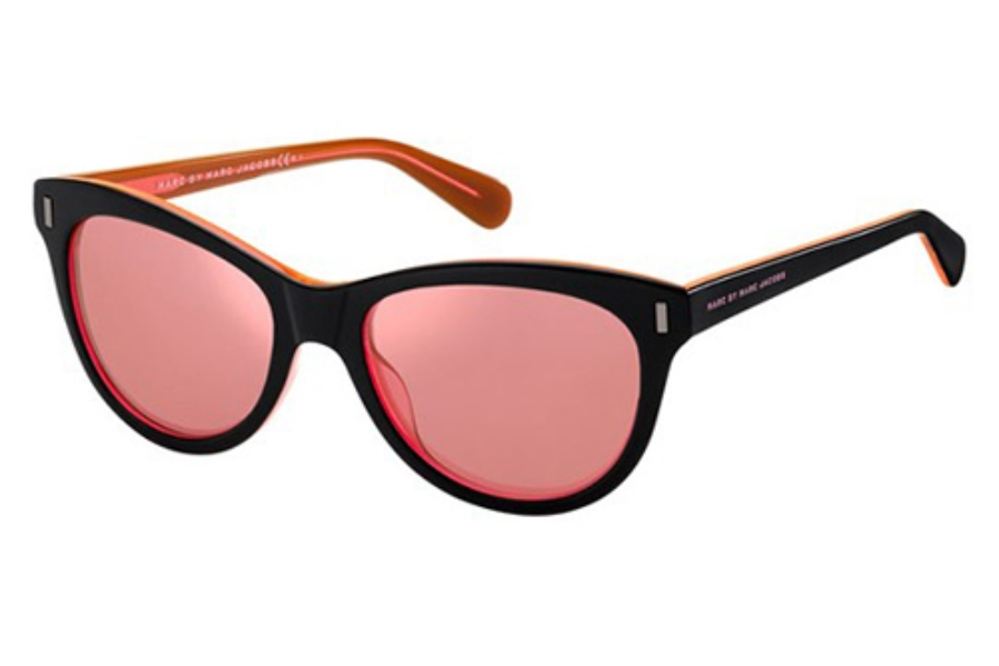 cb222fb6c3ee ... Marc By Marc Jacobs MMJ 434/S Sunglasses in 07ZU Black Orange (V0  Mirror ...