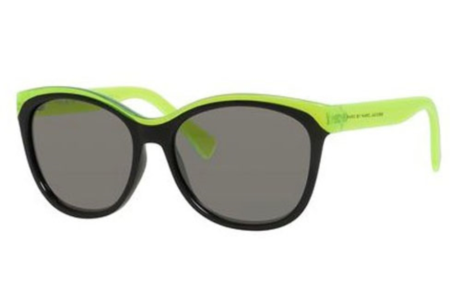 00126067077a Marc By Marc Jacobs MMJ 439/S Sunglasses in 0MFY Lime Black (T4 black ...