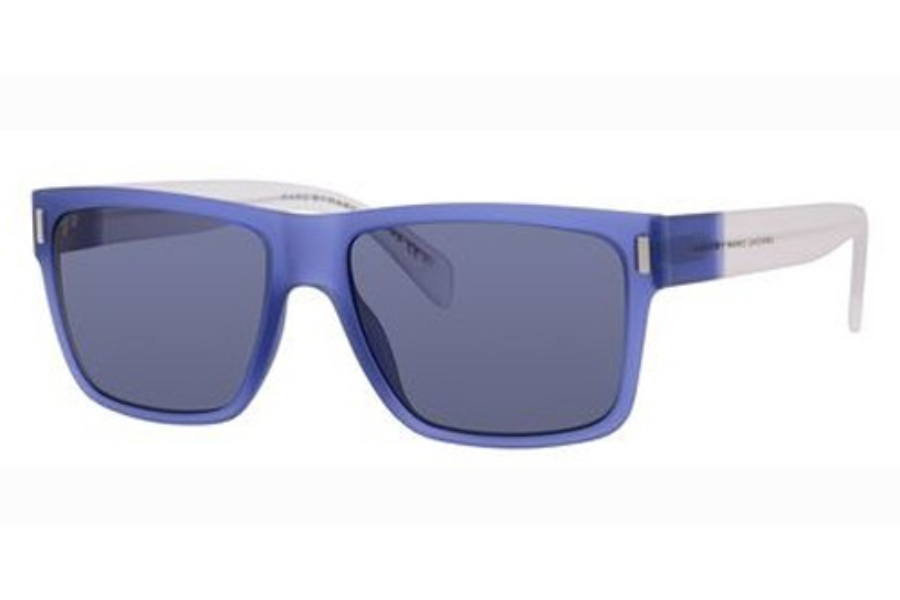 Marc By Marc Jacobs MMJ 468/S Sunglasses in 0B48 Blue Crystal (72 gray lens)