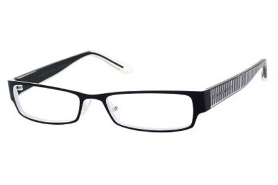 Marc By Marc Jacobs MMJ 556 Eyeglasses in 0MBY Black White/Crystal