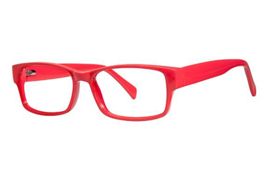 Modern Optical Slick Eyeglasses in Red