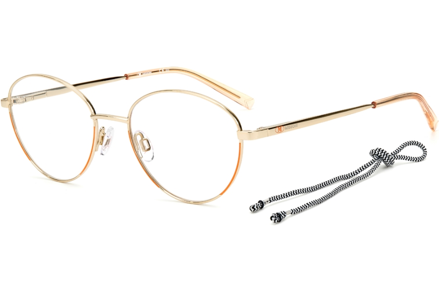 M Missoni Mmi 0024 Eyeglasses in 0K67 Light Gold Peach