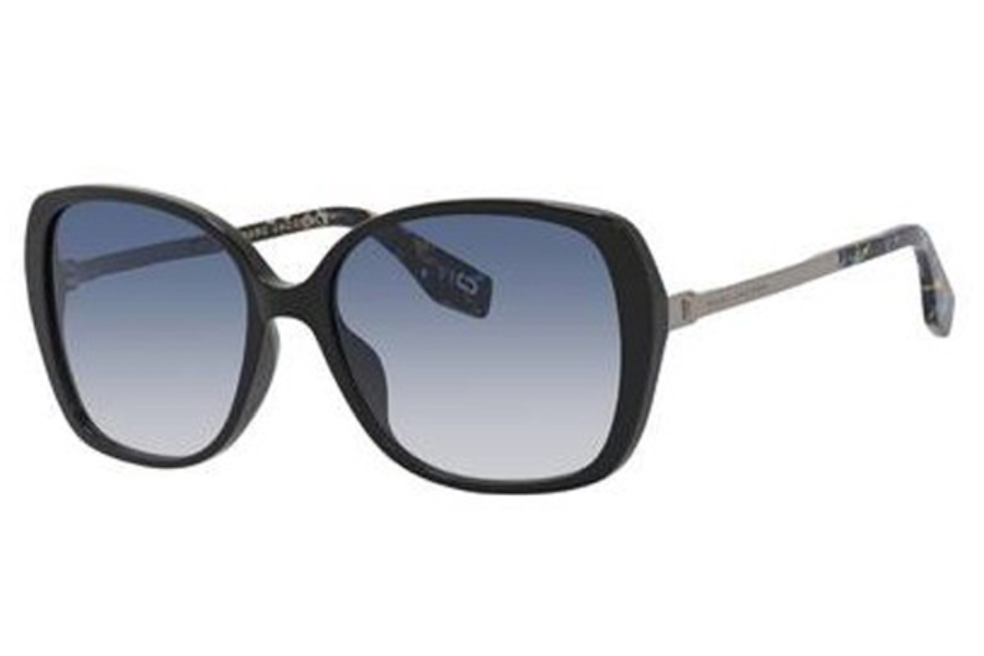 Marc Jacobs Marc 304/S Sunglasses in 05MB Black Multi-C (08 dark blue gradient lens)