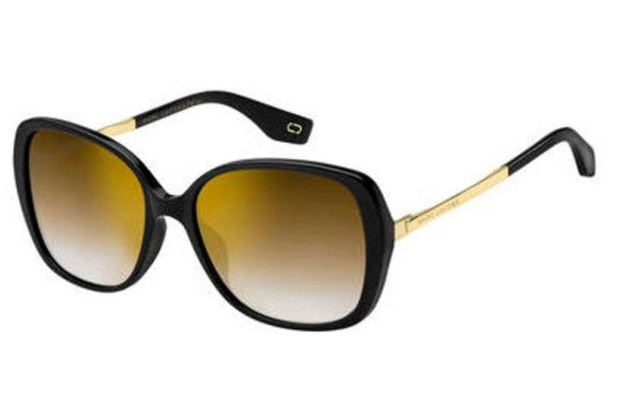 Marc Jacobs Marc 304/S Sunglasses in 0807 Black (JL brown ss gold lens)