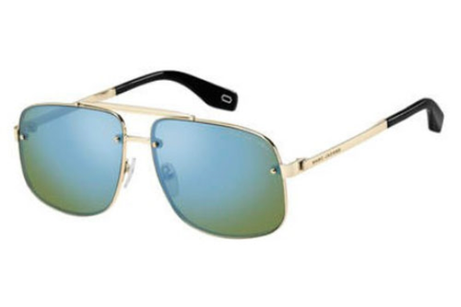 Marc Jacobs Marc 318/S Sunglasses in 03YG Lgh Gold (HZ green blue mirror lens)