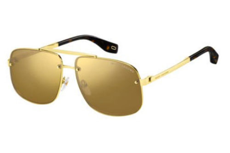 Marc Jacobs Marc 318/S Sunglasses in 0J5G Gold (T4 silver mirror lens)