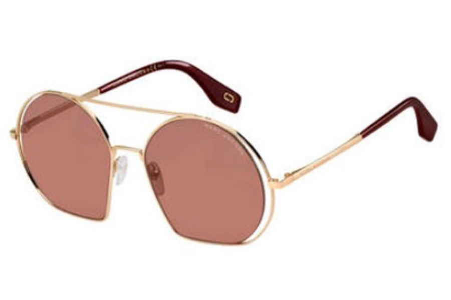 Marc Jacobs Marc 325/S Sunglasses in 0NOA Gold Burgundy (4S burgundy lens)