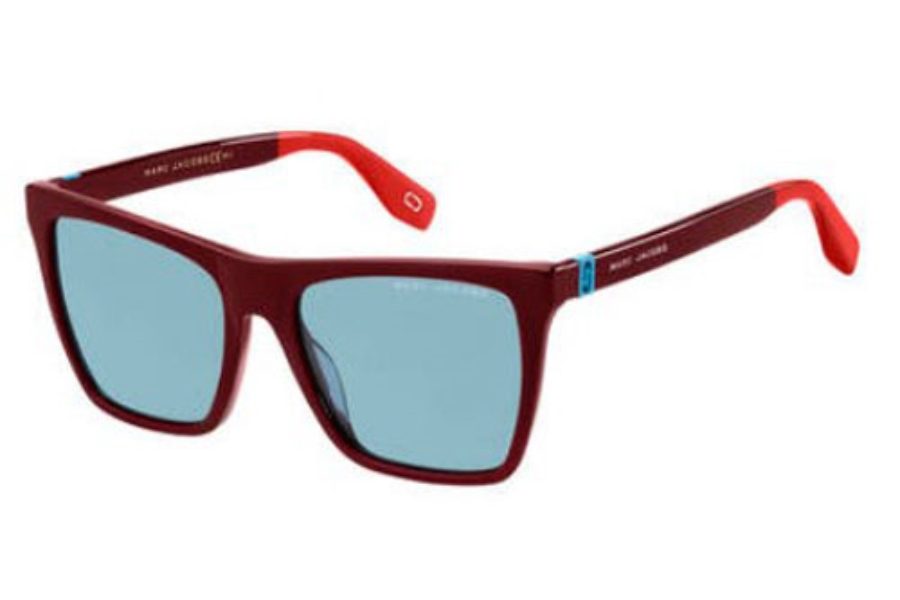 Marc Jacobs Marc 349/S Sunglasses in 0LHF Opal Burgundy (KU blue avio lens)