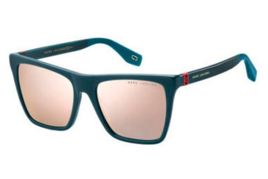 Marc Jacobs Marc 349/S Sunglasses in 0ZI9 Transparent Teal Tea (0J gray rose gold lens)